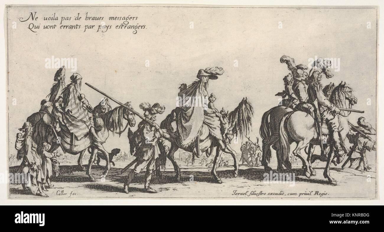 The Marching Gypsies (Les bohémiens en marche), also called The Advance Guard (L'avant-garde). Series/Portfolio: - Stock Image