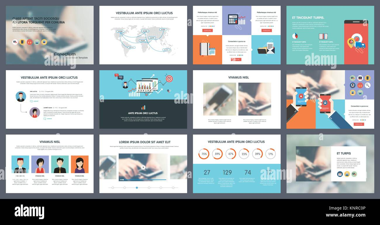 Elements of infographics for presentations templates. Annual report, leaflet, book cover design. Brochure layout, - Stock Image