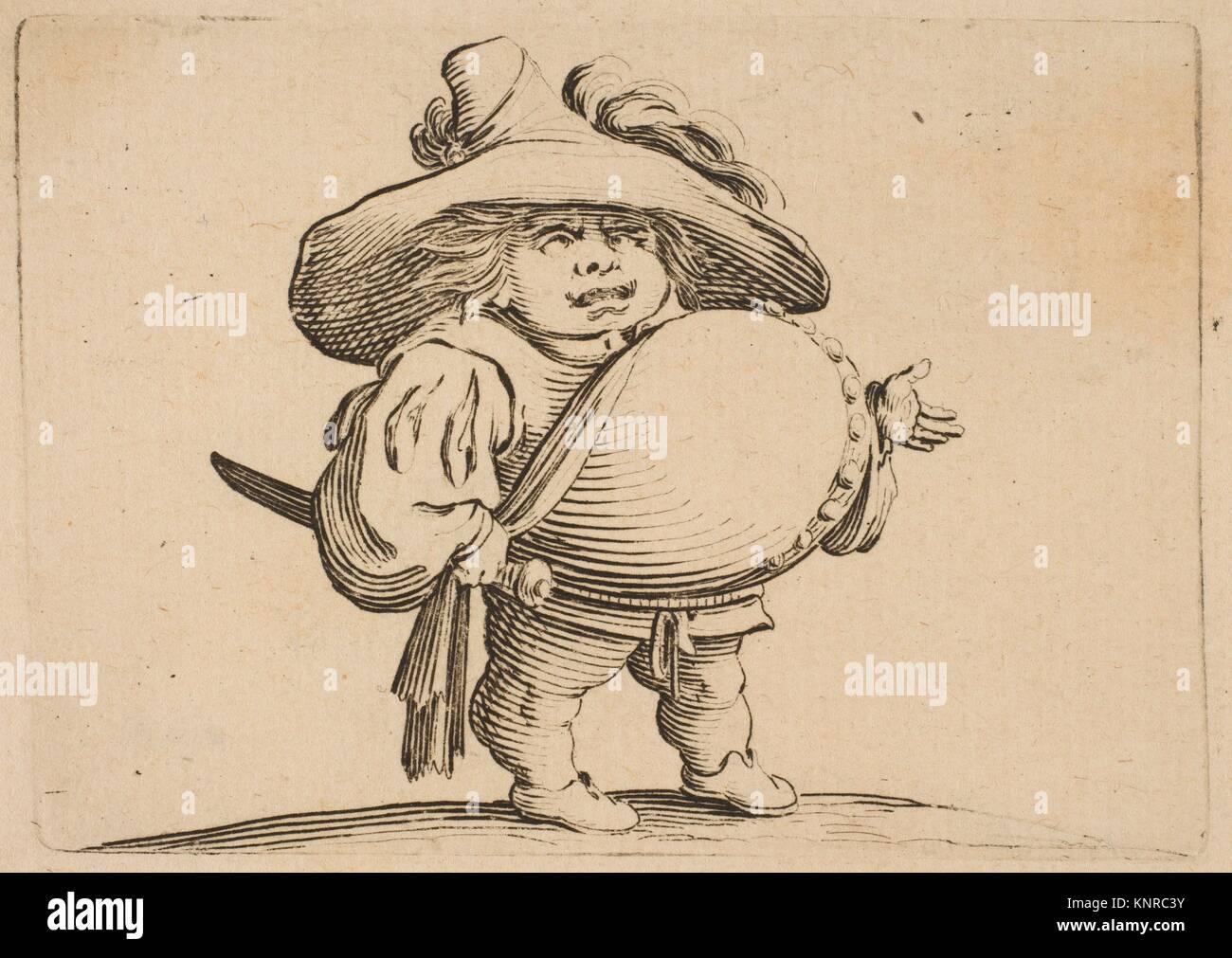 L'Homme au Gros Ventre Orné d'une Rangée de Boutons (Man with a Large Belly Decorated with a Row - Stock Image