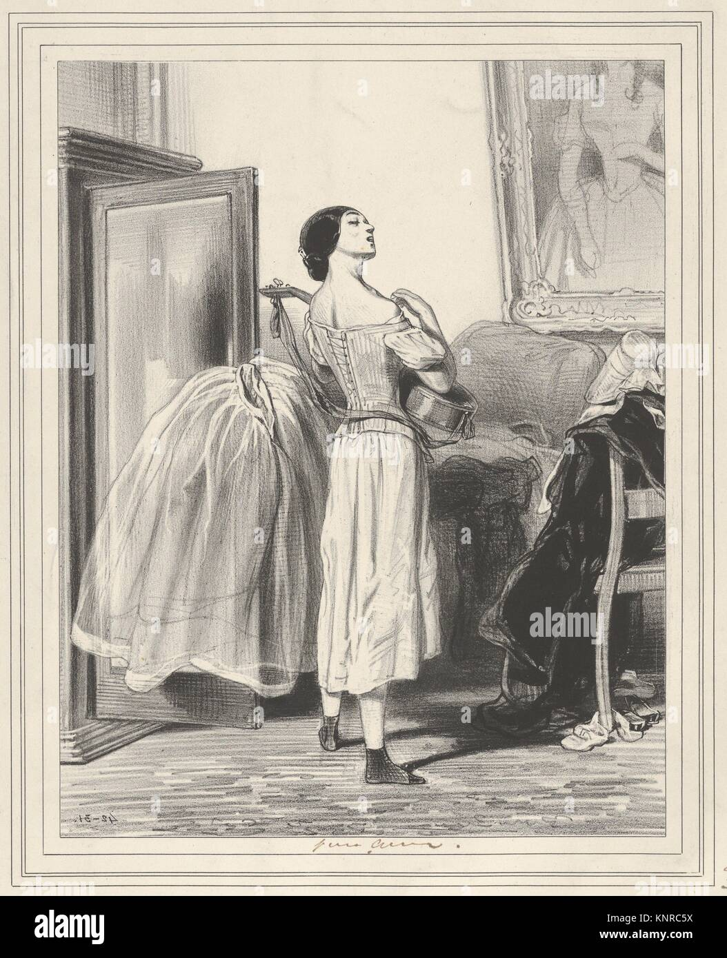 Rien n'est si joli que la fable, si triste que la vérité!, plate 30 from the suite Les Lorettes, published - Stock Image