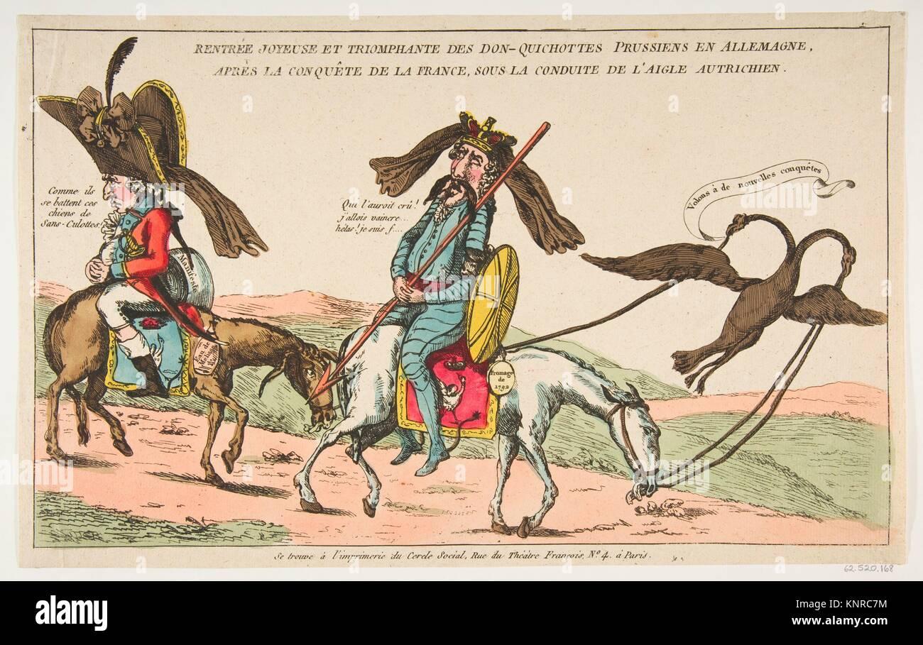 Rentrée joyeuse et triomphale des Don-Quichottes Prussiens en Allemagne, après la conquête de la - Stock Image