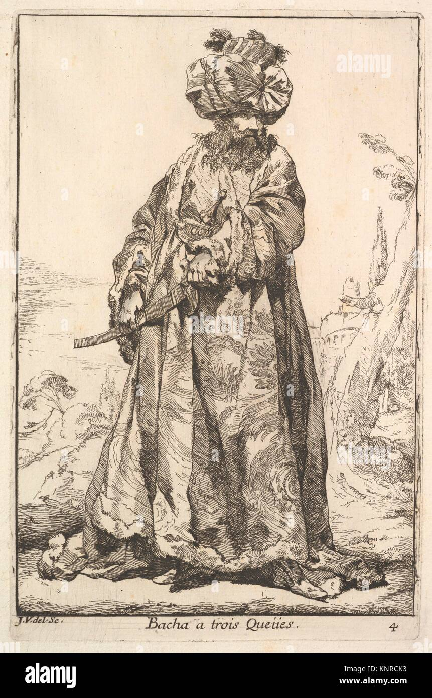 Pasha grasping a sword at his hip with both hands, from the series 'Caravan of the Sultan to Mecca' (Caravane - Stock Image