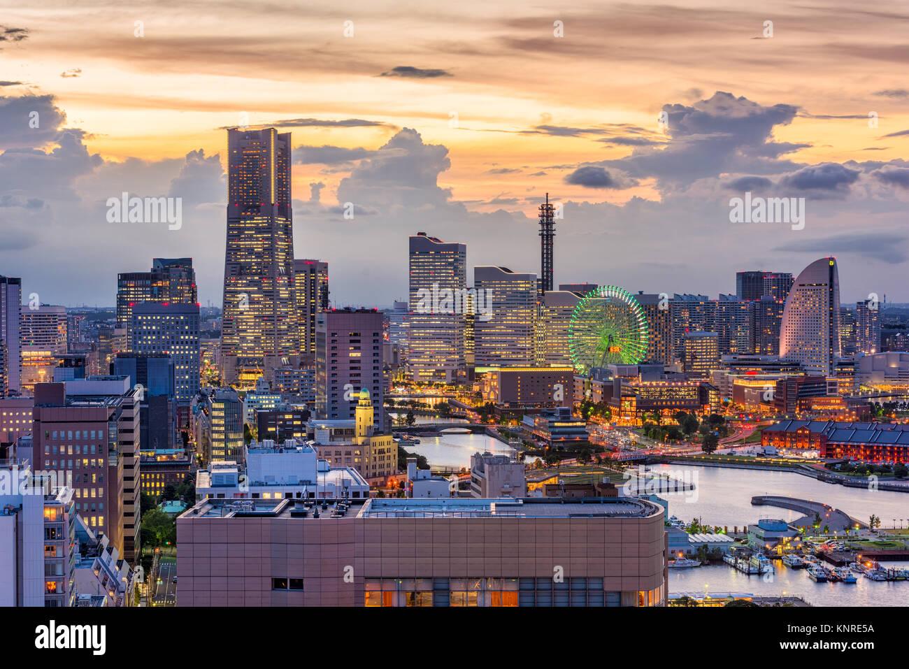 Yokohama, Kanagawa, Japan cityscape of Minato Mirai District. - Stock Image