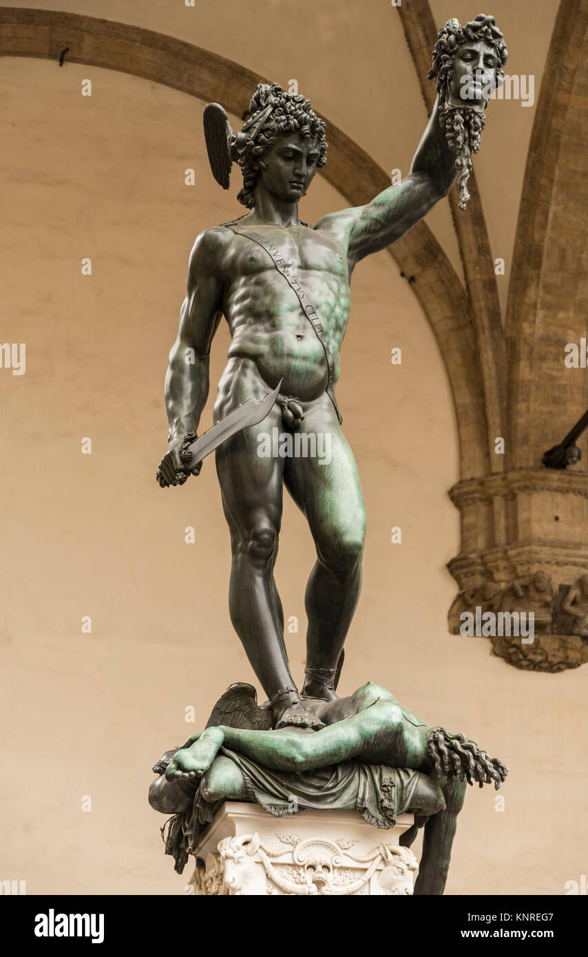 Perseus With The Head Of Medusa Stock Photo 168317415 Alamy