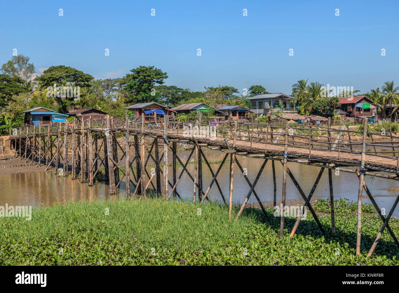 rural life in Bago, Myanmar, Asia - Stock Image