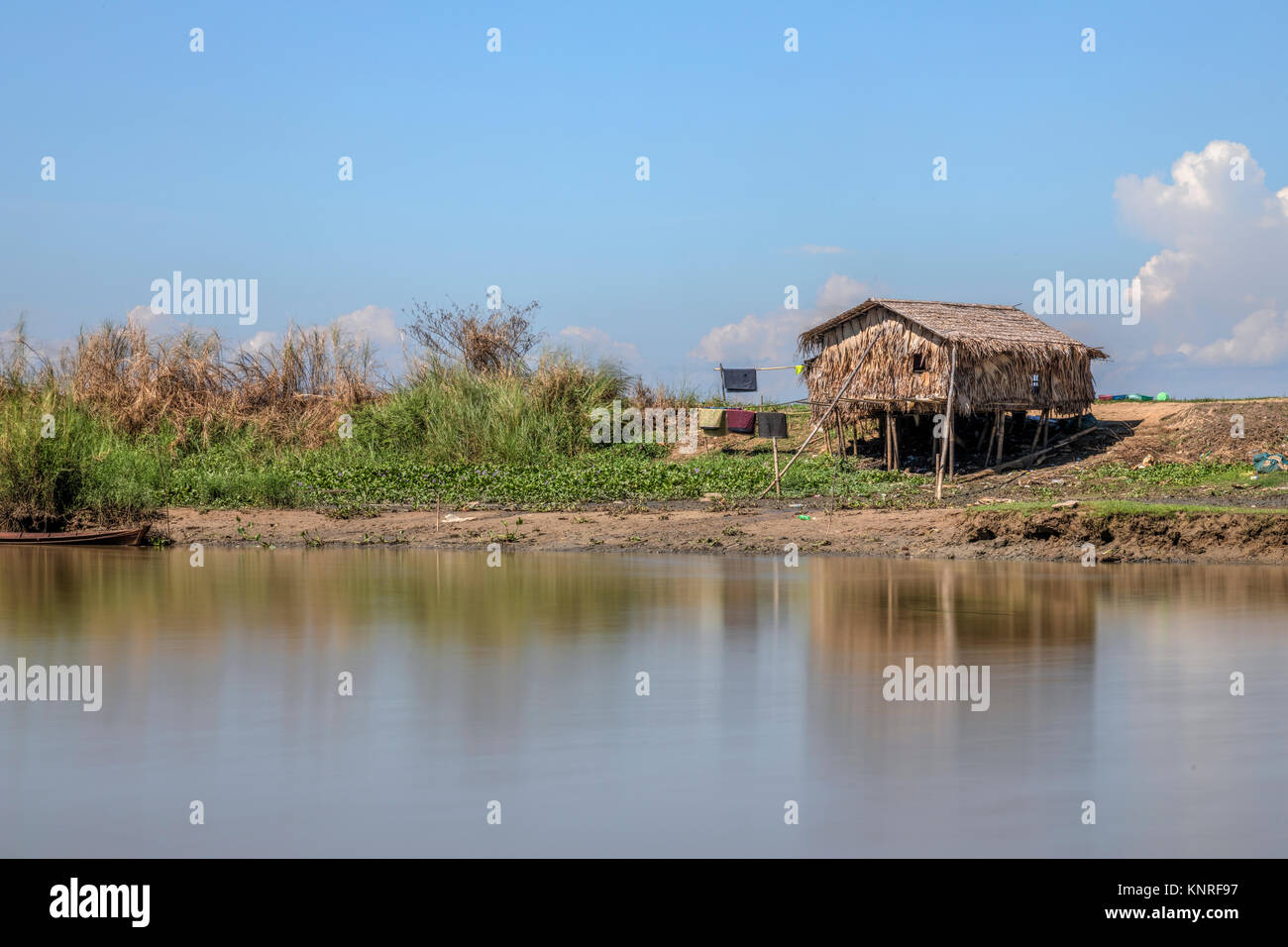 rural life in Bago, Myanmar - Stock Image