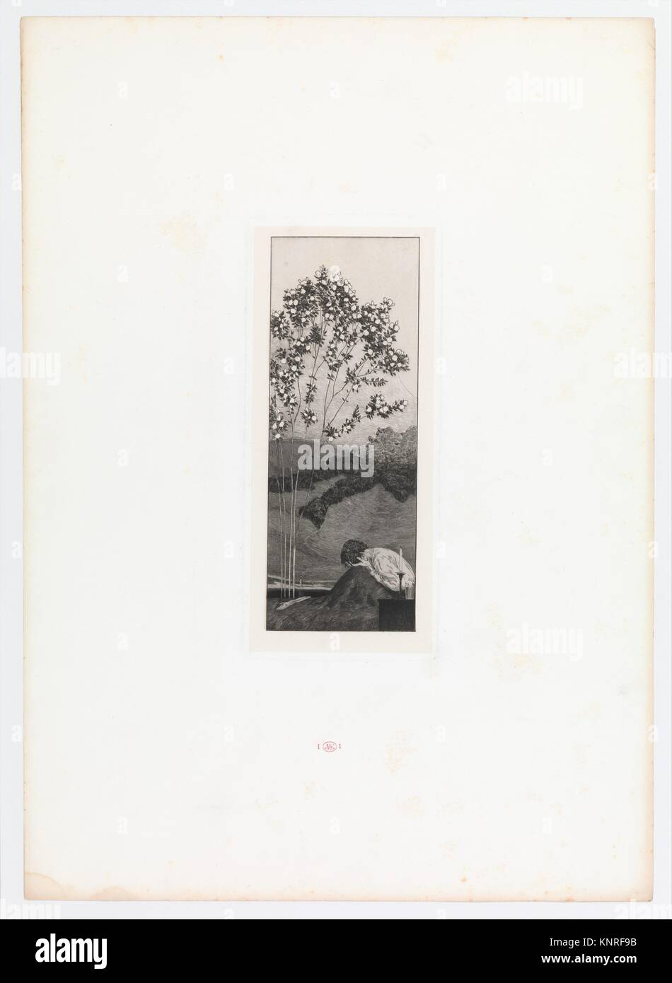 Wünsche (Yearnings) from Ein Handschuh (A Glove). Cyclus von zehn Compositionen radirt. Rad. Opus VI, Plate III. Stock Photo