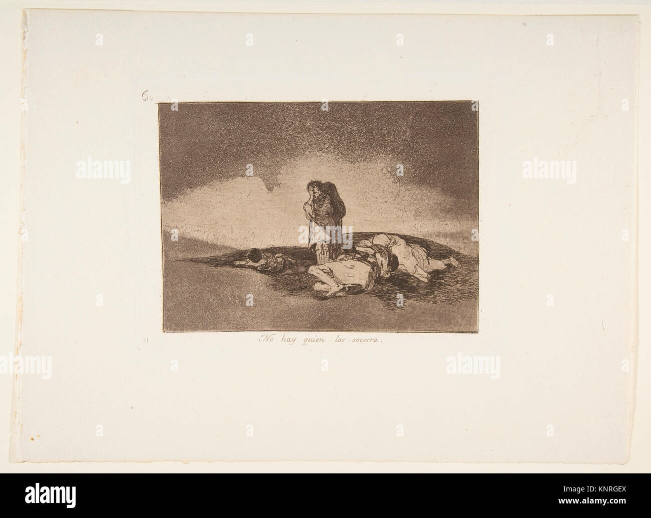 Plate 60 from 'The Disasters of War' (Los Desastres de la Guerra):'There is no one to help them' - Stock Image