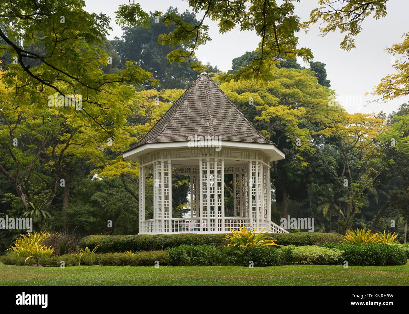 singapore botanic garden bandstand - Stock Image