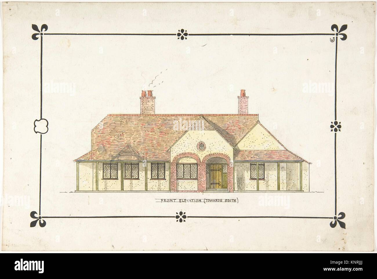 Front Elevation Of Drawing Room : Bungalow drawing stock photos
