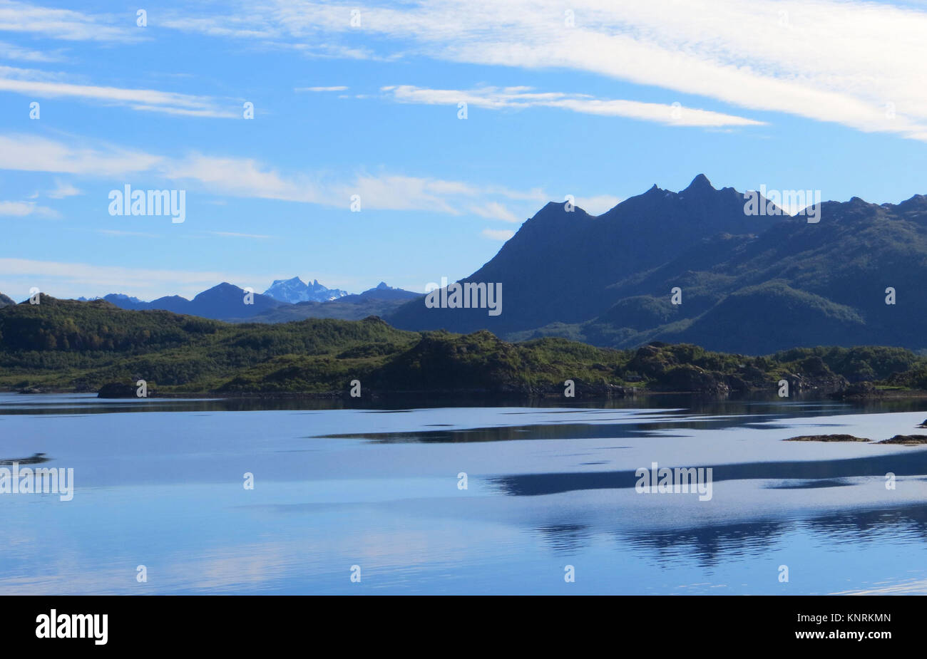 Calming shot of the mountains in Norway. - Stock Image