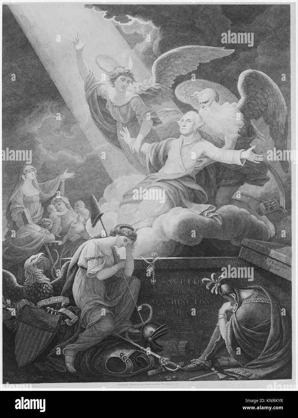 Apotheosis of Washington. Artist: John James Barralet (Irish, Dublin ca. 1747-1815 Philadelphia, Pennsylvania); - Stock Image