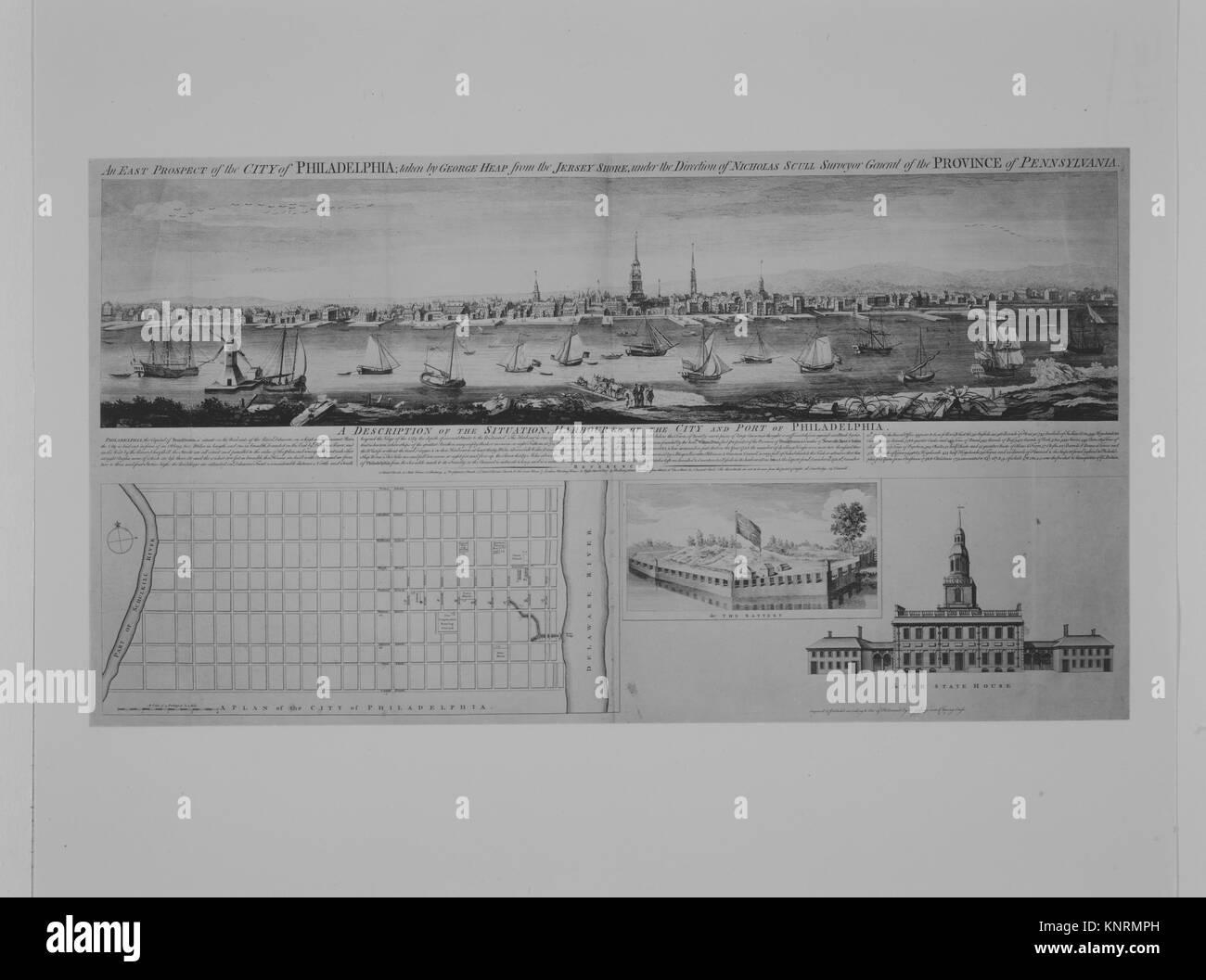 View of Niagara Falls. Date: n.d; Classification: Prints; Credit Line: Gift of William H. Huntington, 1883 / MET - Stock Image