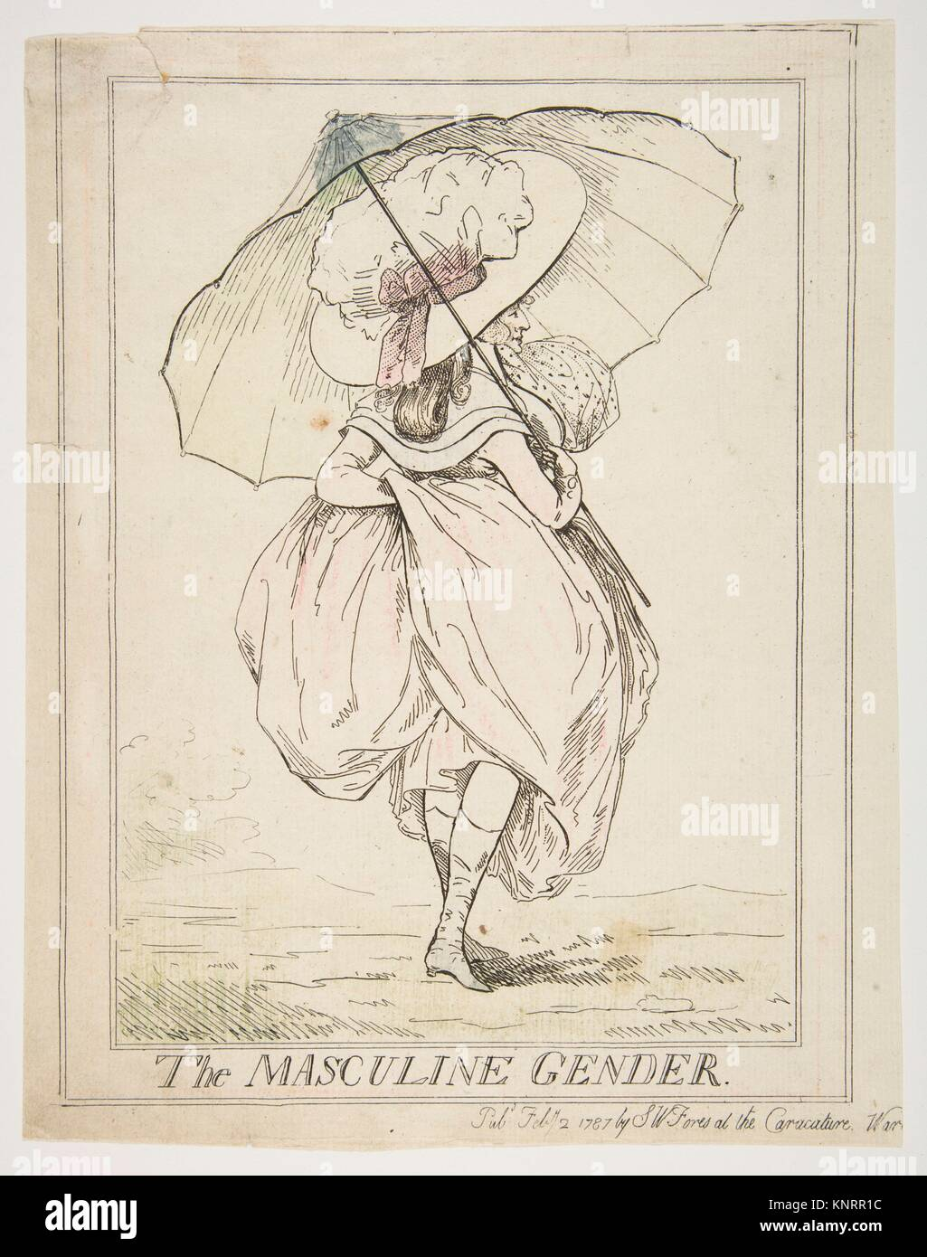 The Masculine Gender. Artist: Attributed to Henry Kingsbury (British, active ca. 1775-98); Publisher: Samuel William - Stock Image