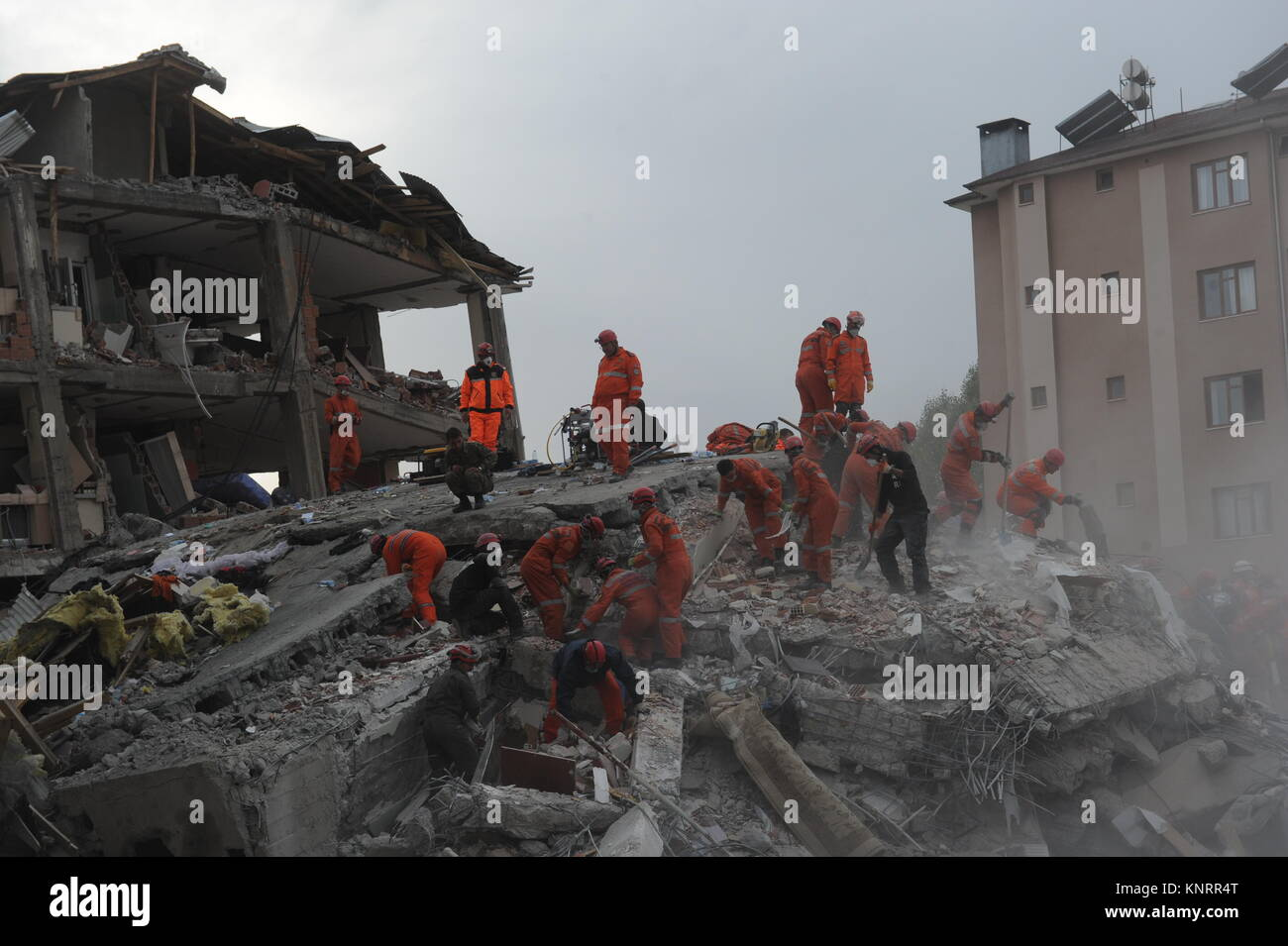 The 2011 Van earthquakes occurred in eastern Turkey near the city of Van. The first earthquake happened on 23 October - Stock Image