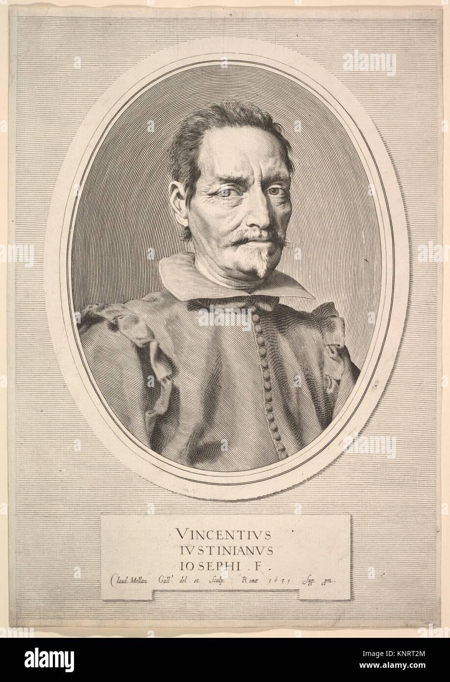 Portrait of Vicenzo Giustiniani. Series/Portfolio: Galleria justiniana del marchese Vincenzo Giustiniani, pl. 2; - Stock Image