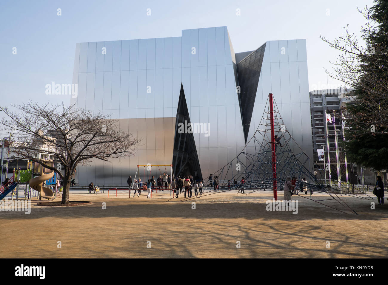 Japan, Tokyo: Sumida Hokusai Museum, in the neighborhood of Sumida, Tokyo, capital city of Japan. The museum is - Stock Image