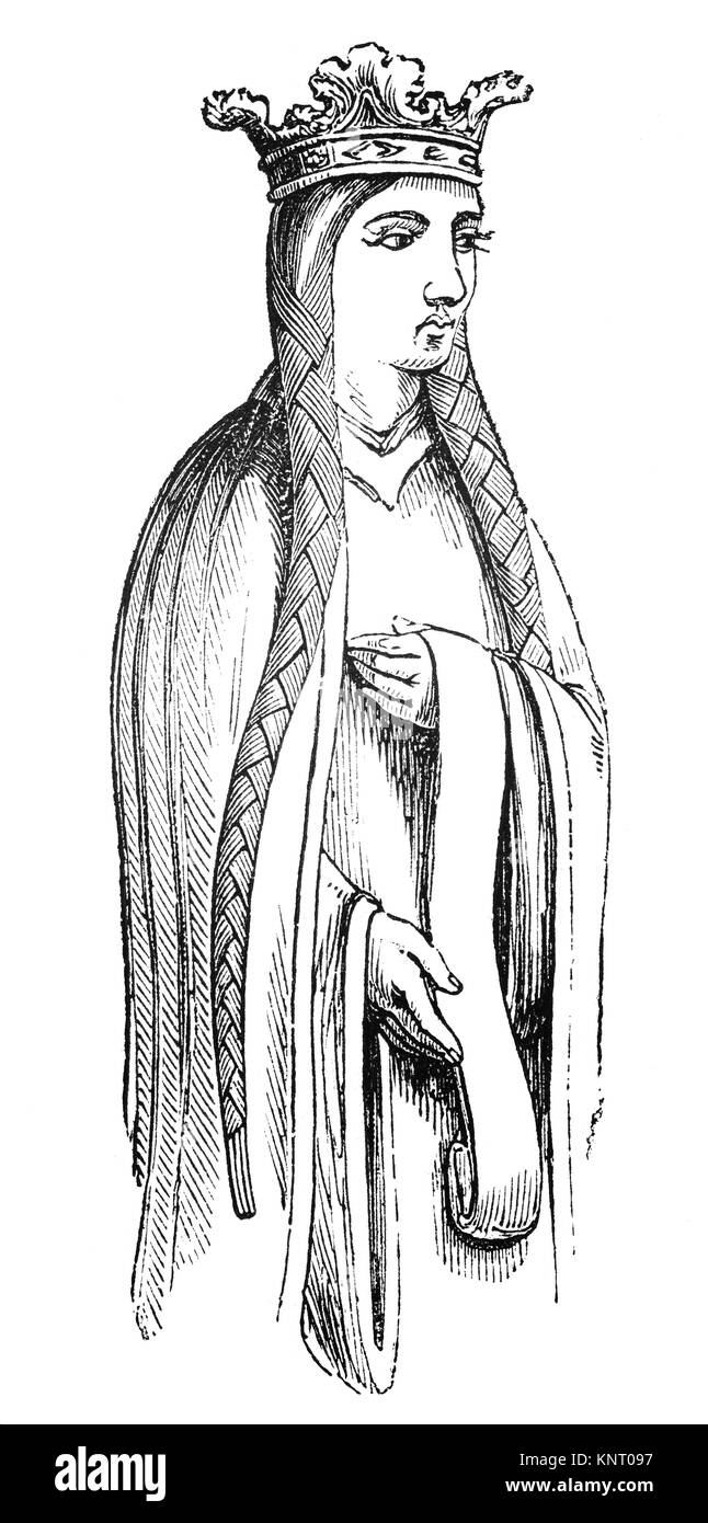Empress Matilda (1102 – 1167), also known as the Empress Maud was the daughter of King Henry I and  claimant to - Stock Image