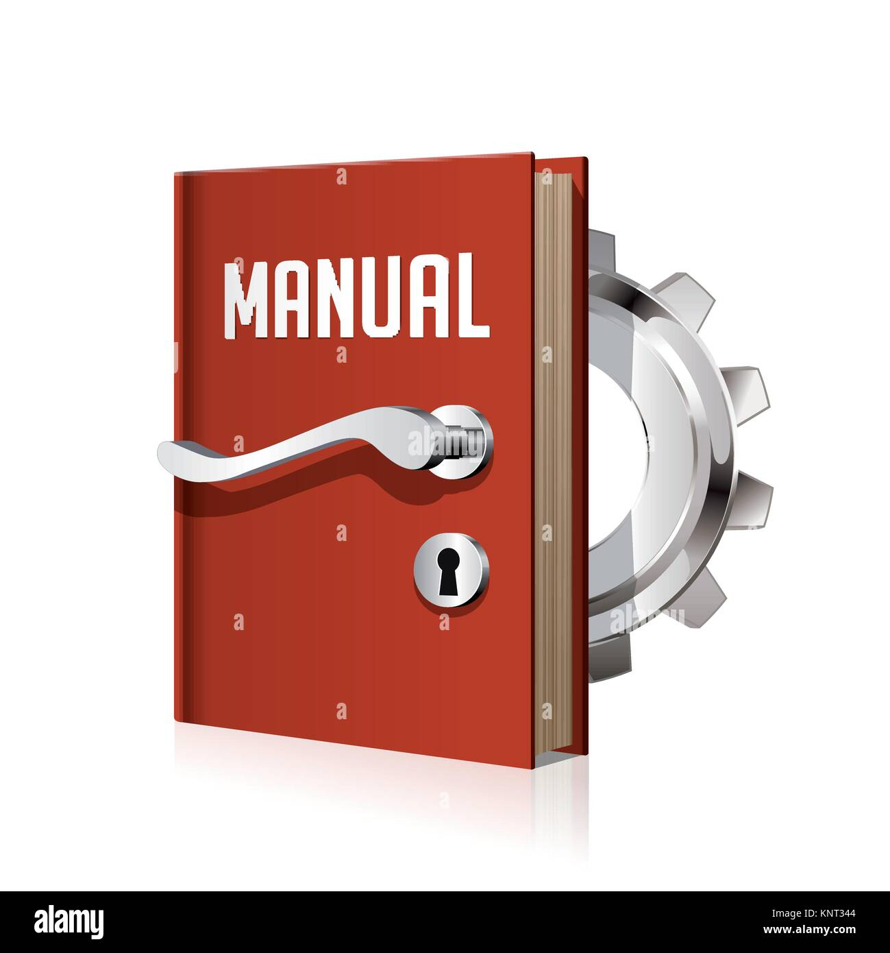 Learning concept - book as door to knowledge and wisdom – stock illustration - Stock Image