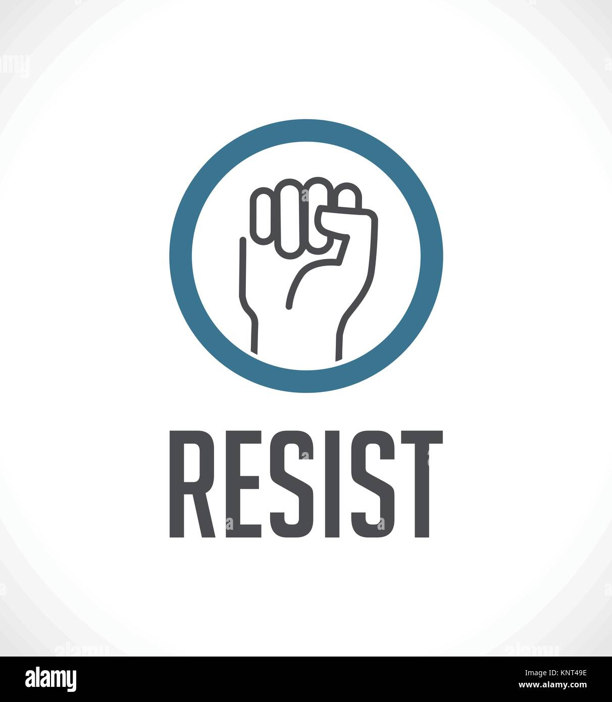 Logo - resist concept - fist as symbol of resistance – stock illustration - Stock Vector