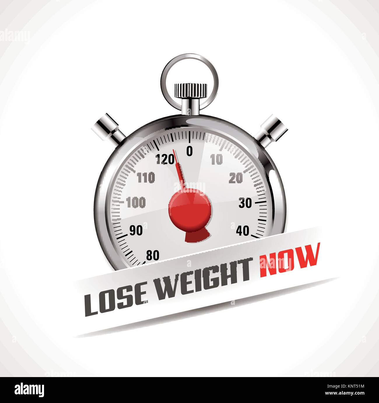 Lost your weight concept - stopwatch as body weight scales – stock illustration - Stock Image
