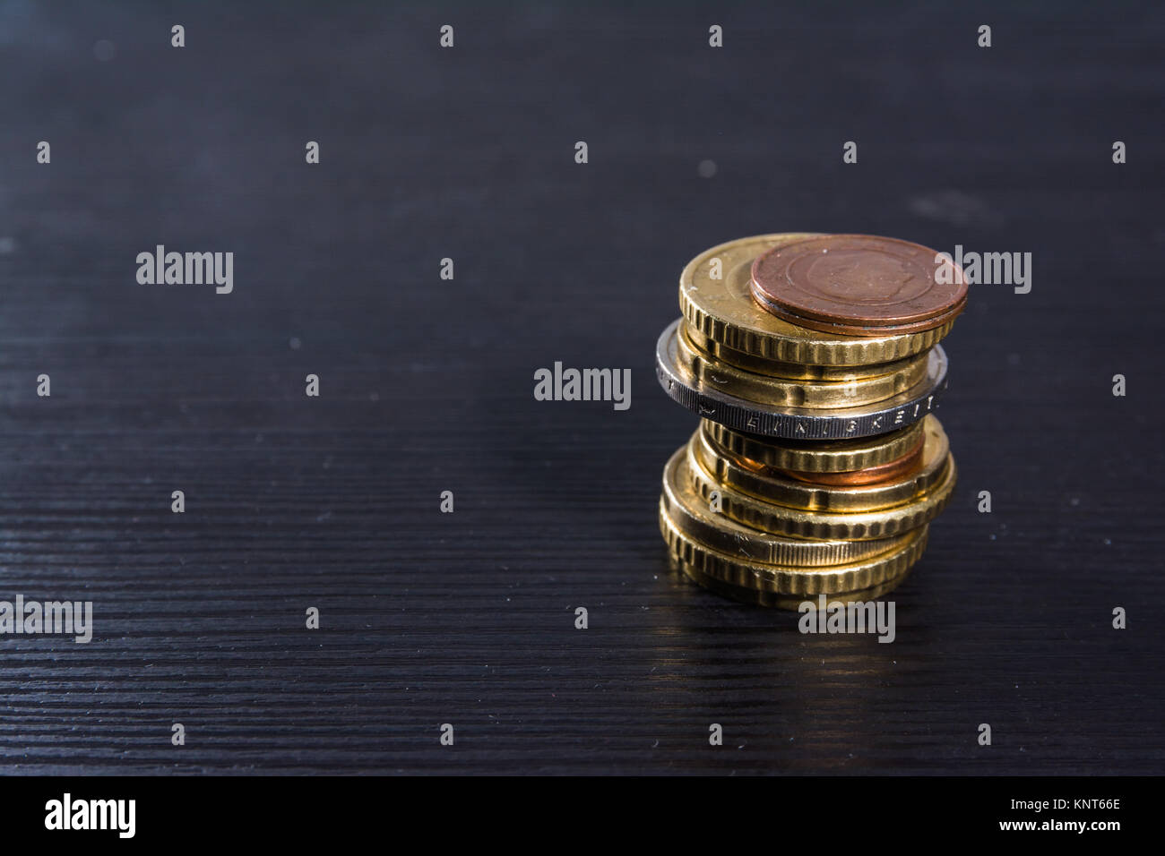 Tremendous European Coins Euros Stack Metal Colors Currency Desk Black Home Remodeling Inspirations Basidirectenergyitoicom