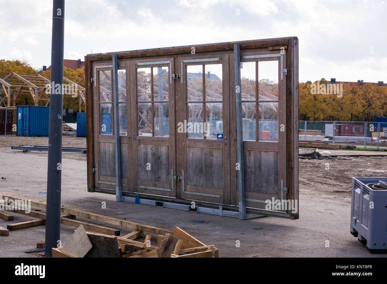 Loose Door Alone Architecture Construction Object Four Pane Glass Entrance Site Interesting & Loose Door Alone Architecture Construction Object Four Pane Glass ...
