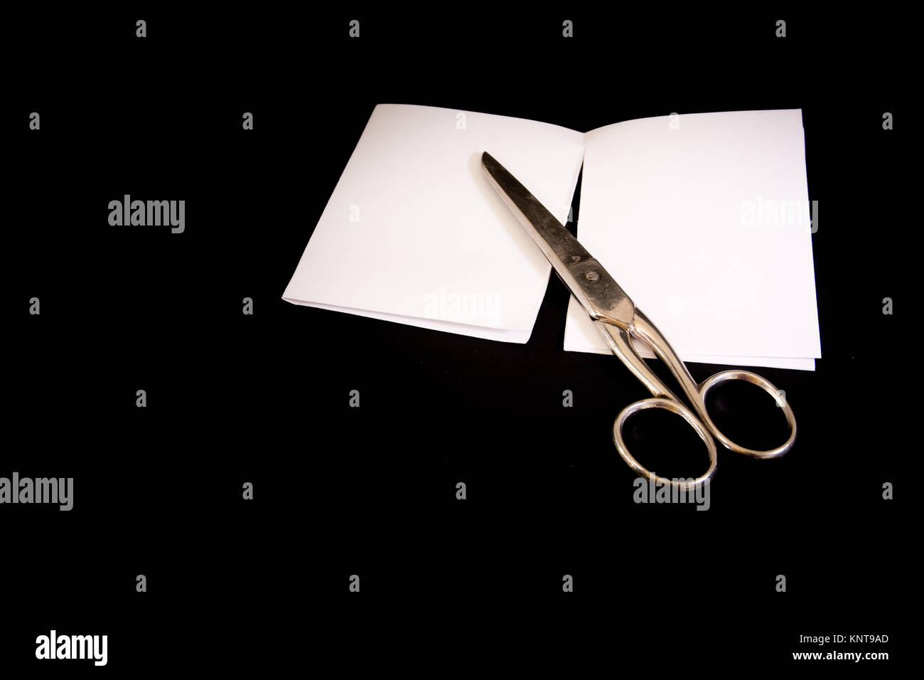 Scissors Cut Paper Game Victory Lost Black Isolated Background Metal - Stock Image