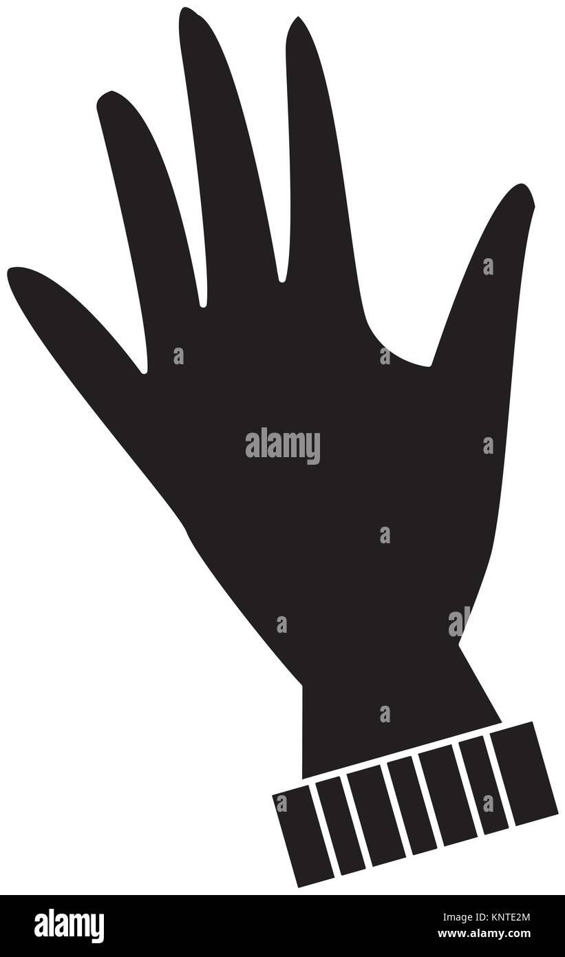 Winter glove isolated - Stock Vector