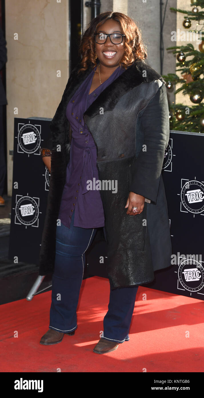 Photo Must Be Credited ©Alpha Press 079965 12/12/2017 Chizzy Akudolu  The Tric Christmas Party at Grosvenor House Stock Photo