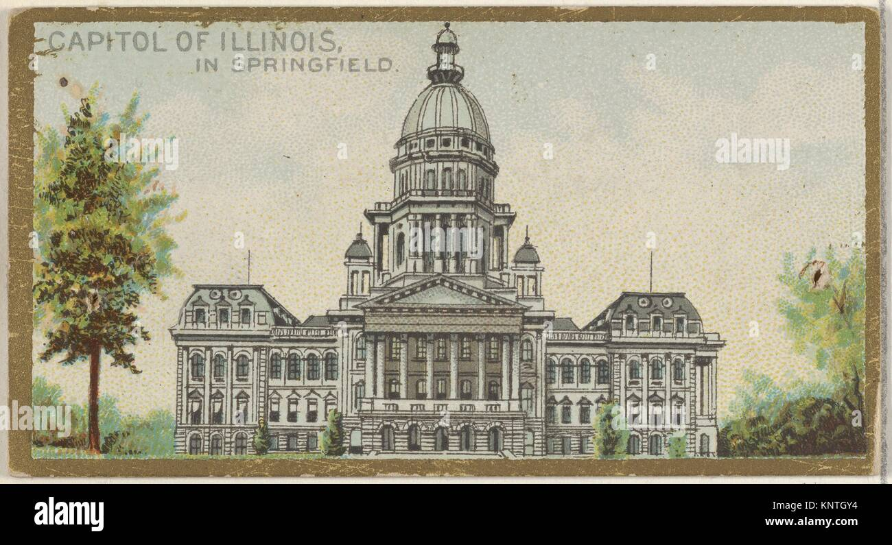 Capitol of Illinois in Springfield, from the General Government and State Capitol Buildings series (N14) for Allen - Stock Image
