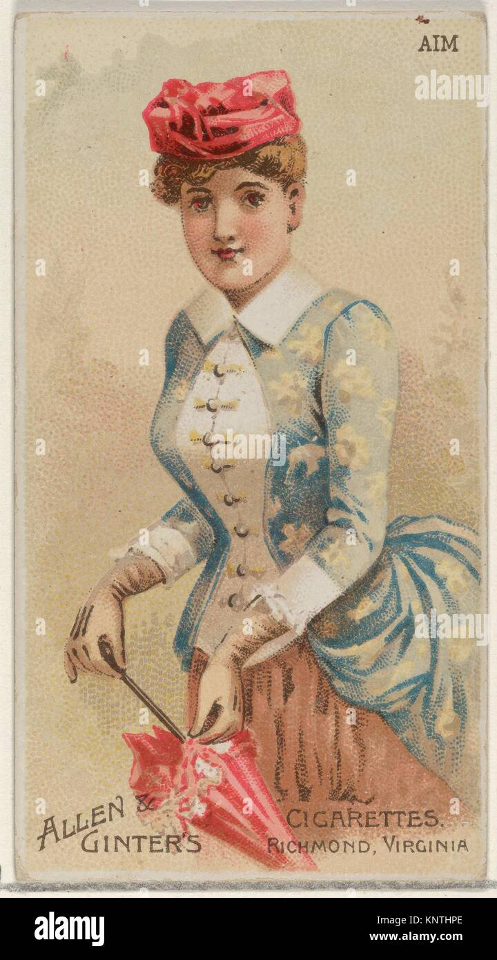Aim, from the Parasol Drills series (N18) for Allen & Ginter Cigarettes Brands. Publisher: Allen & Ginter - Stock Image