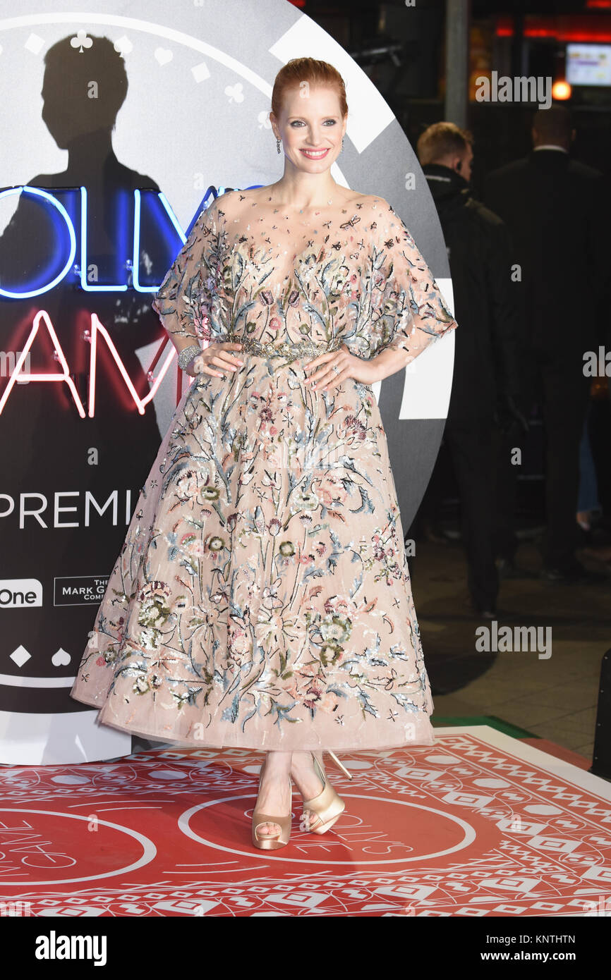 Jessica Chastian,'Molly's Game' - UK Premiere,Vue West End,Leicester Square,London.UK - Stock Image