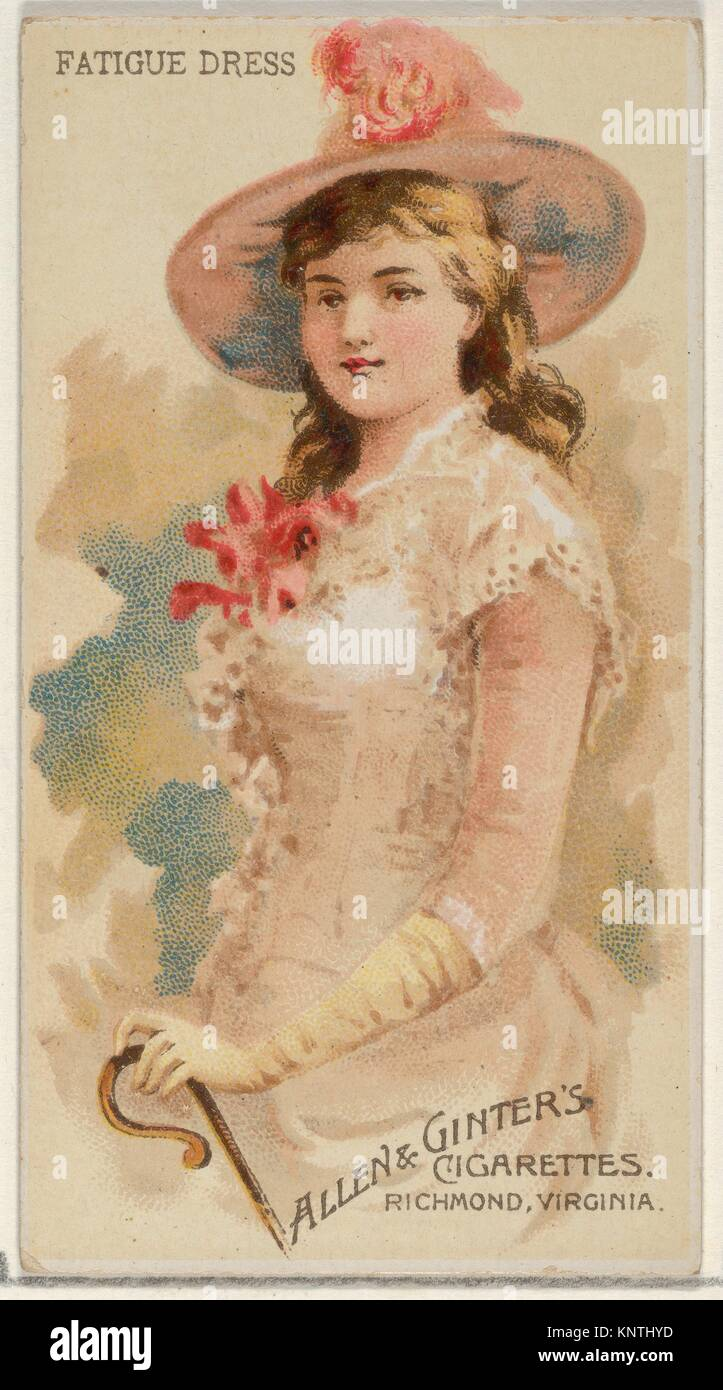 Fatigue Dress, from the Parasol Drills series (N18) for Allen & Ginter Cigarettes Brands. Publisher: Allen & - Stock Image