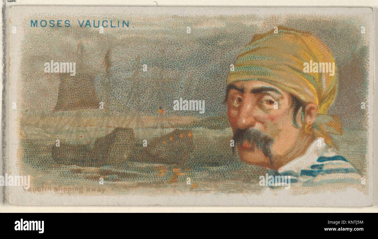Moise Vauquelin, Vauquelin Slipping Away, from the Pirates of the Spanish Main series (N19) for Allen & Ginter - Stock Image