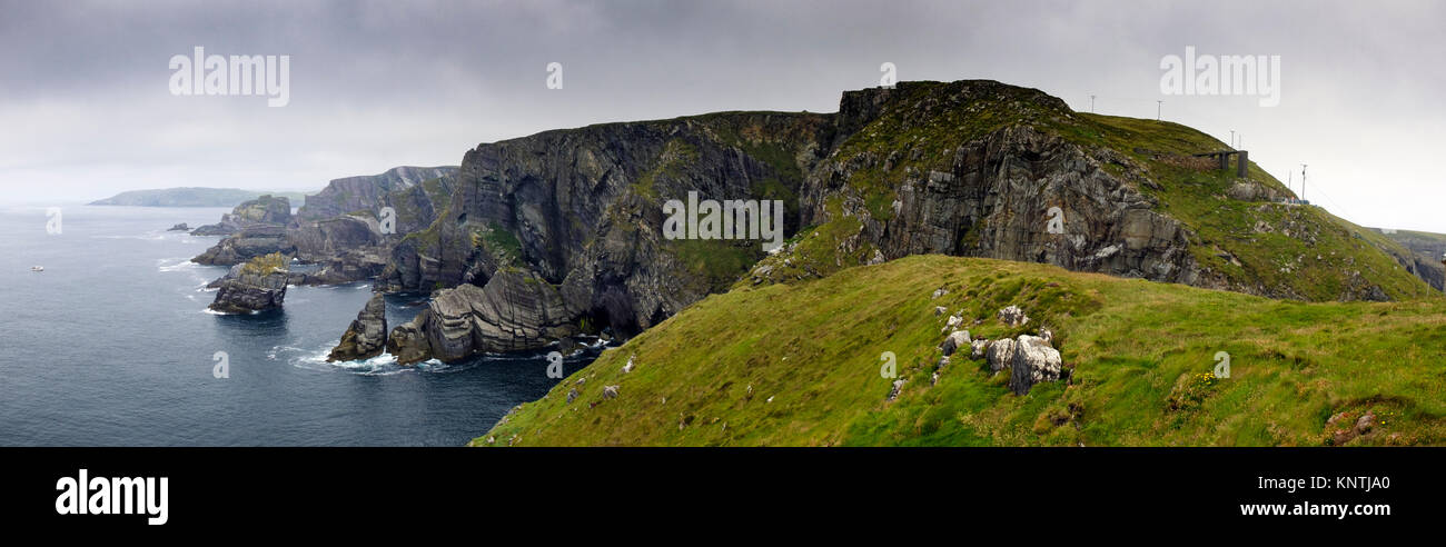 A panoramic view of the Mizen, on the Wild Atlantic Way, Southern Ireland - Stock Image
