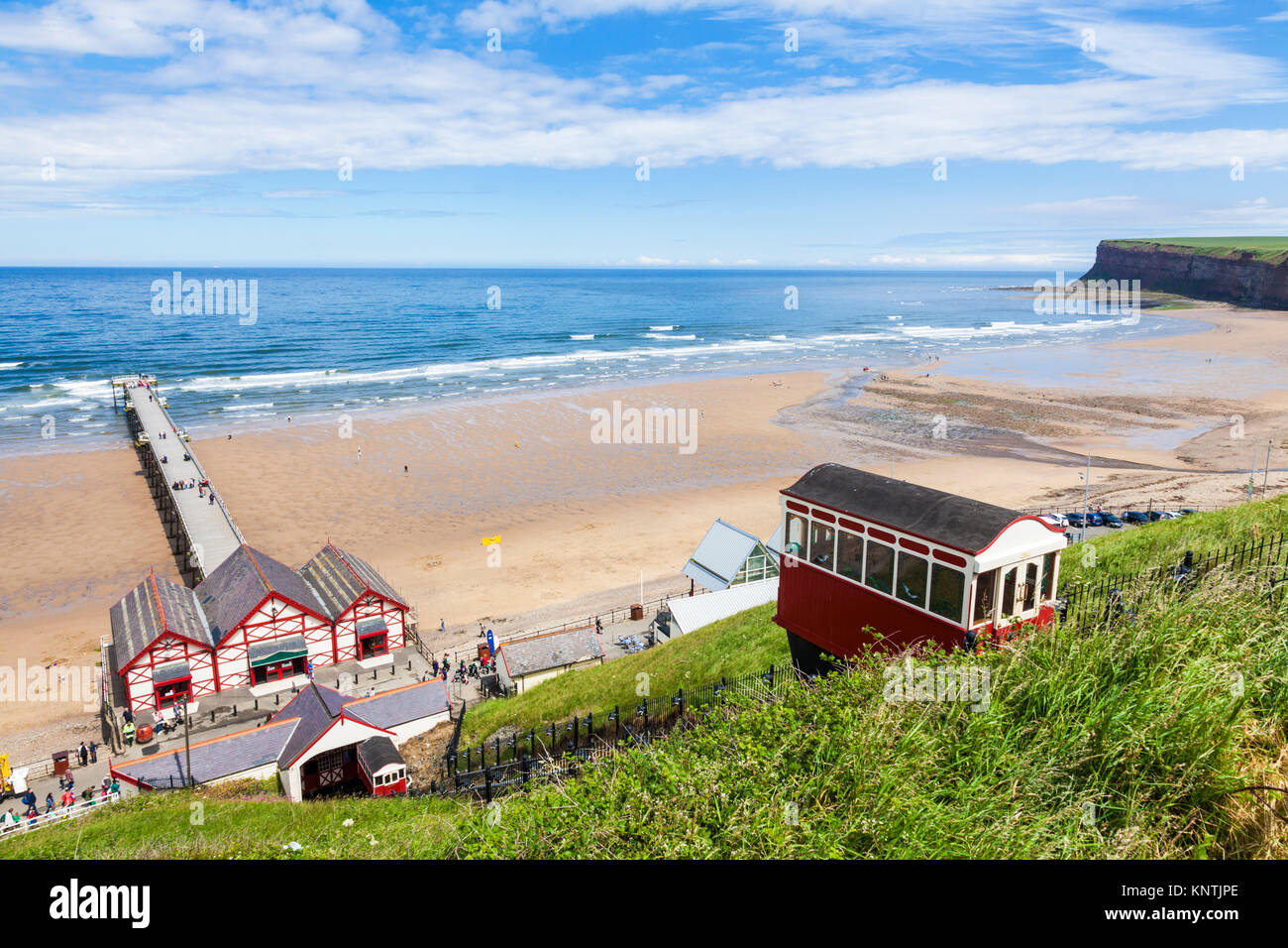 England saltburn by the sea England tramway saltburn cliff railway saltburn cliff tramway saltburn North Yorkshire - Stock Image