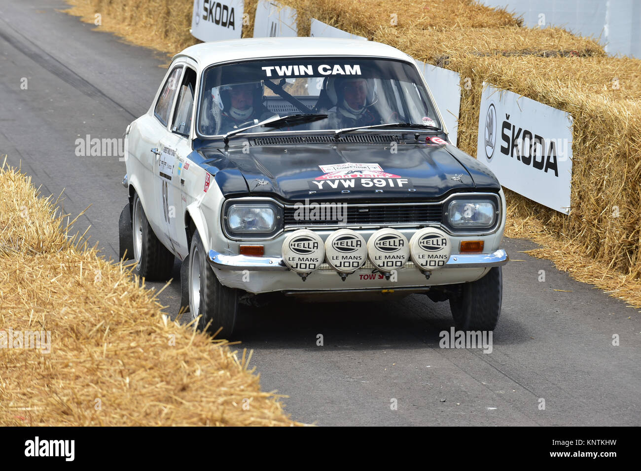 Dave Watkins, Ford Escort Twin Cam, YVW 591 F, Goodwood Festival of ...