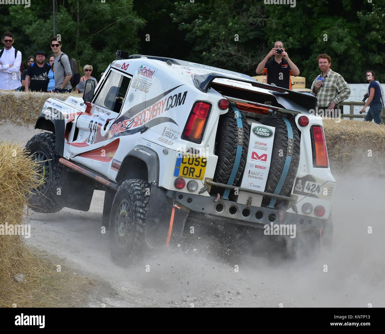 Ben Gott, Anthony Harris, QT Wildcat, CU 59 ORJ, Goodwood Festival of Speed, 2014, 2014, Anthony Harris, Autosport, - Stock Image