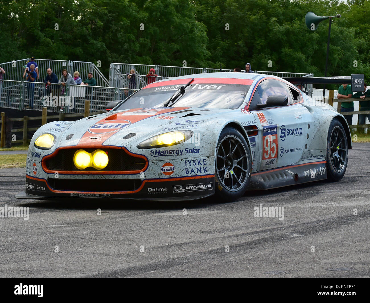 Aston Martin V12 Vantage Gt3 Goodwood Festival Of Speed 2014 2014 Stock Photo Alamy