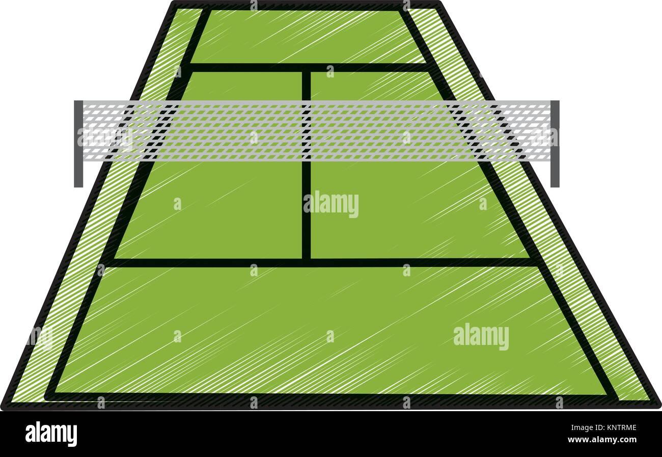 Tennis Court Design Stock Vector Image Art Alamy