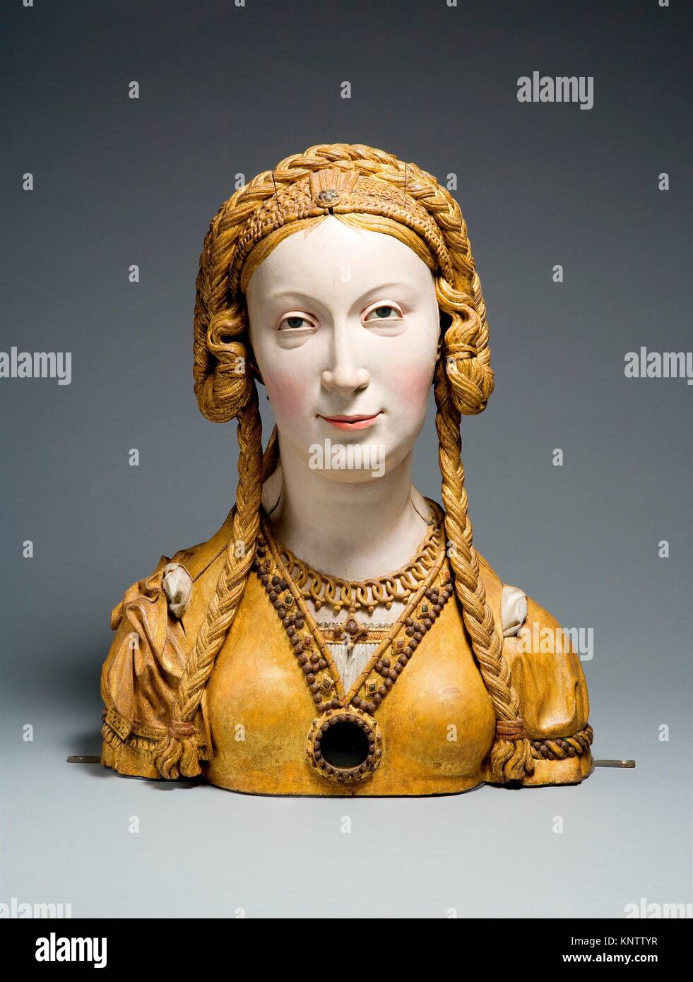Reliquary Bust of a Female Saint. Date: ca. 1520-30; Geography: Made in possibly Brussels, Belgium; Culture: South - Stock Image