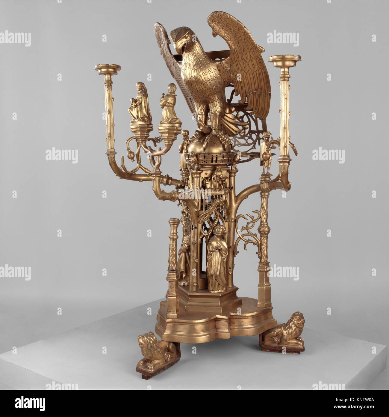 Lectern in the Form of an Eagle. Artist: Attributed to Jehan Aert van Tricht (Netherlandish, active Maastricht 1492 - Stock Image