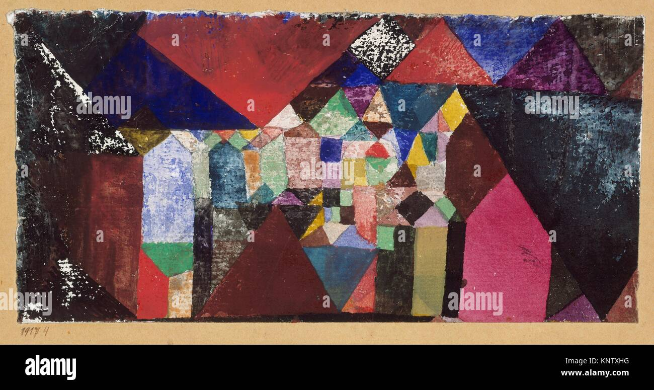 Municipal Jewel. Artist: Paul Klee (German (born Switzerland), Münchenbuchsee 1879-1940 Muralto-Locarno); Date: - Stock Image