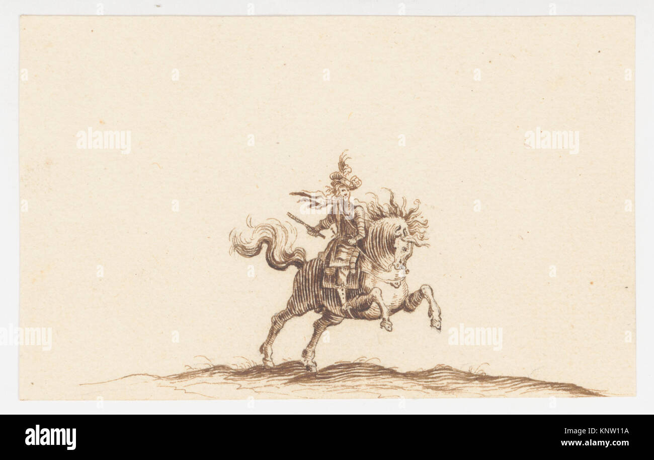 A Horseman MET DP145147 A Horseman MET DP145147 /380397 Artist: Attributed to Hans Caspar N?scheler, Swiss, Zurich Stock Photo