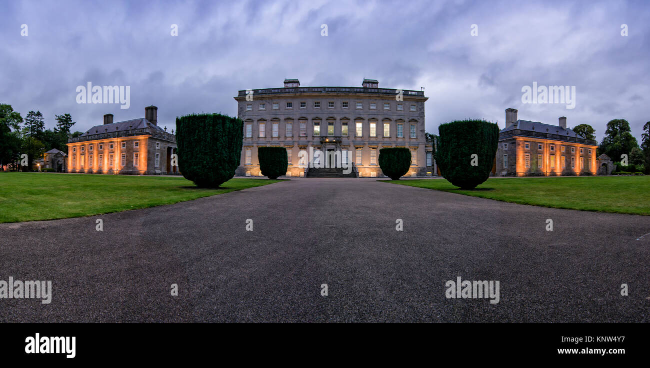 Arrival Panorama Front Exterior Castletown House - Stock Image