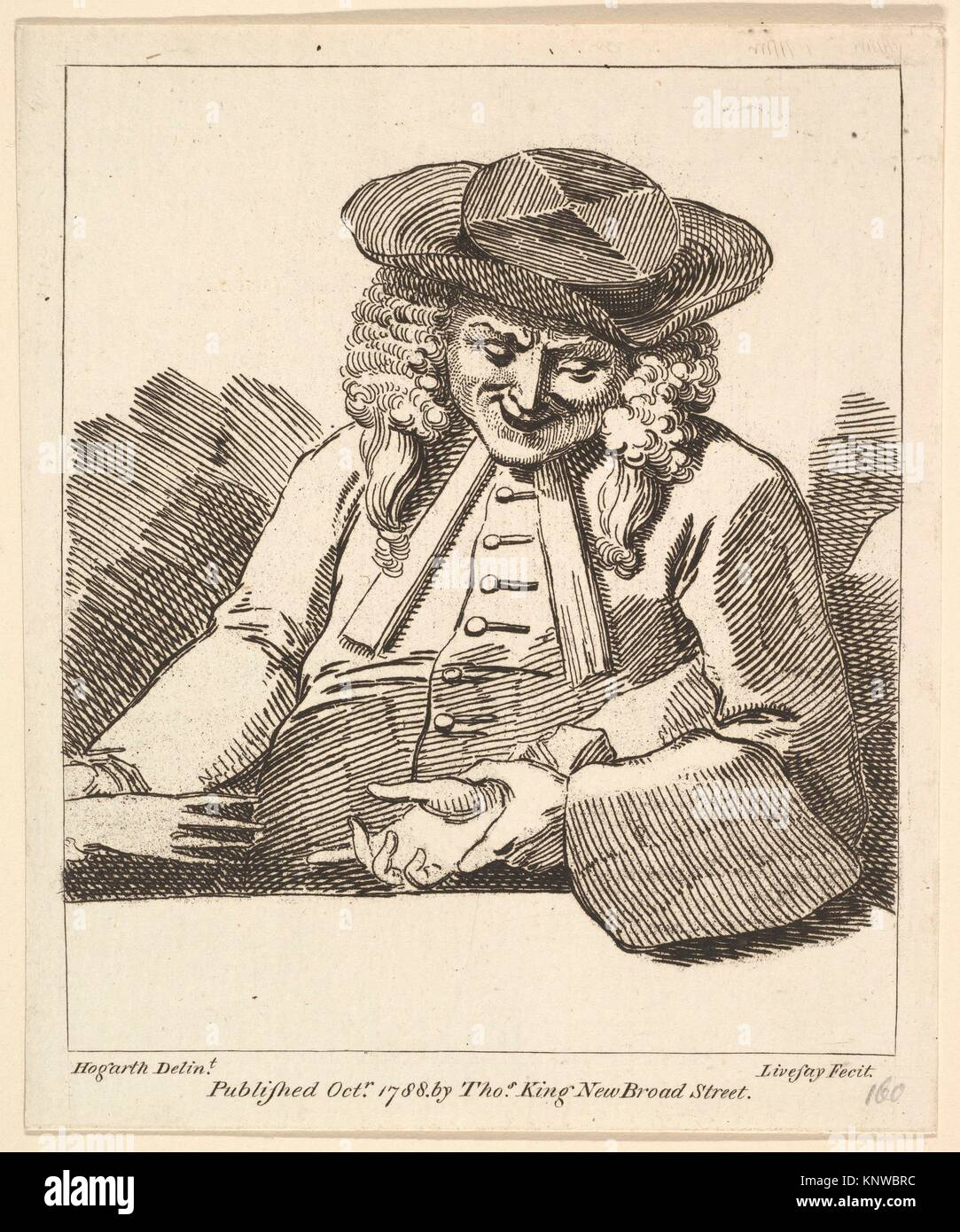 A Parson Joining the Hands of Two People. Etcher: Richard Livesay (British, 1753-1823 Southsea); Artist: After William - Stock Image
