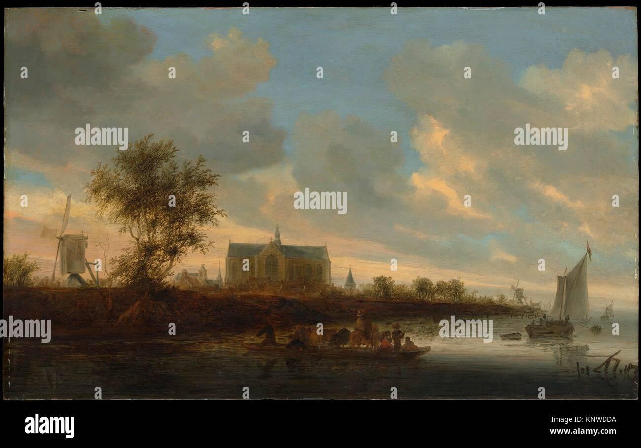 View of the Town of Alkmaar. Artist: Salomon van Ruysdael (Dutch, Naarden, born ca. 1600-1603, died 1670 Haarlem); Stock Photo
