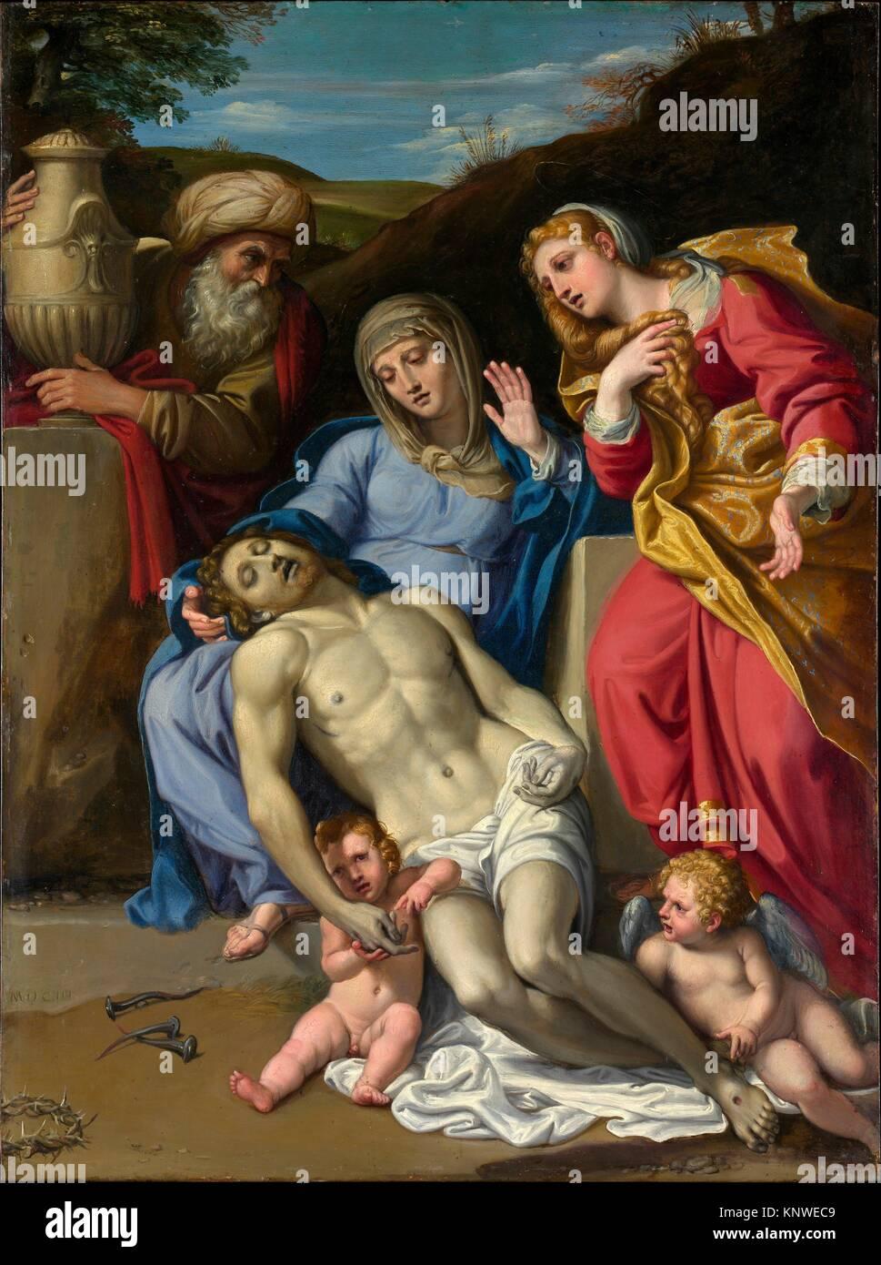 The Lamentation. Artist: Domenichino (Domenico Zampieri) (Italian, Bologna 1581-1641 Naples); Date: 1603; Medium: - Stock Image