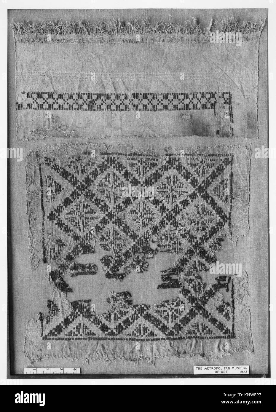 Tunic with Interlace Decoration. Object Name: Tunic; Date: 4th-8th century; Geography: Attributed to Egypt; Medium: - Stock Image